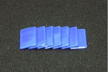 Imagen de Fichas rectangulares 20 x 40mm x 100 Unidades AZULES