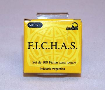 Imagen de Fichas Plasticas 12,5 Mm. X 100 U. Amarillas