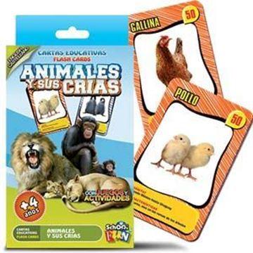 Imagen de Cartas Educativas Animales Y Sus Crias