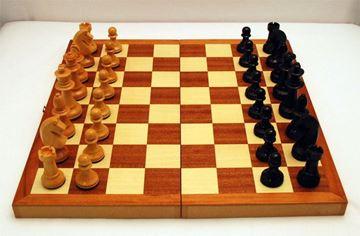 Imagen de Caja-tablero de ajedrez Nº 9 c/fichas