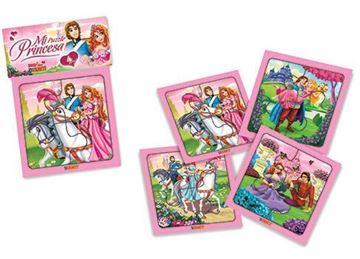 Imagen de 4 Puzzles 4 piezas - Mi Puzzle Princesa