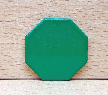 Imagen de Fichas octogonales 35mm x 100 Unidades VERDES